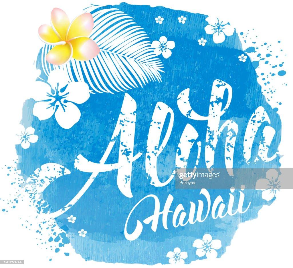 Aloha Hawaii lettering