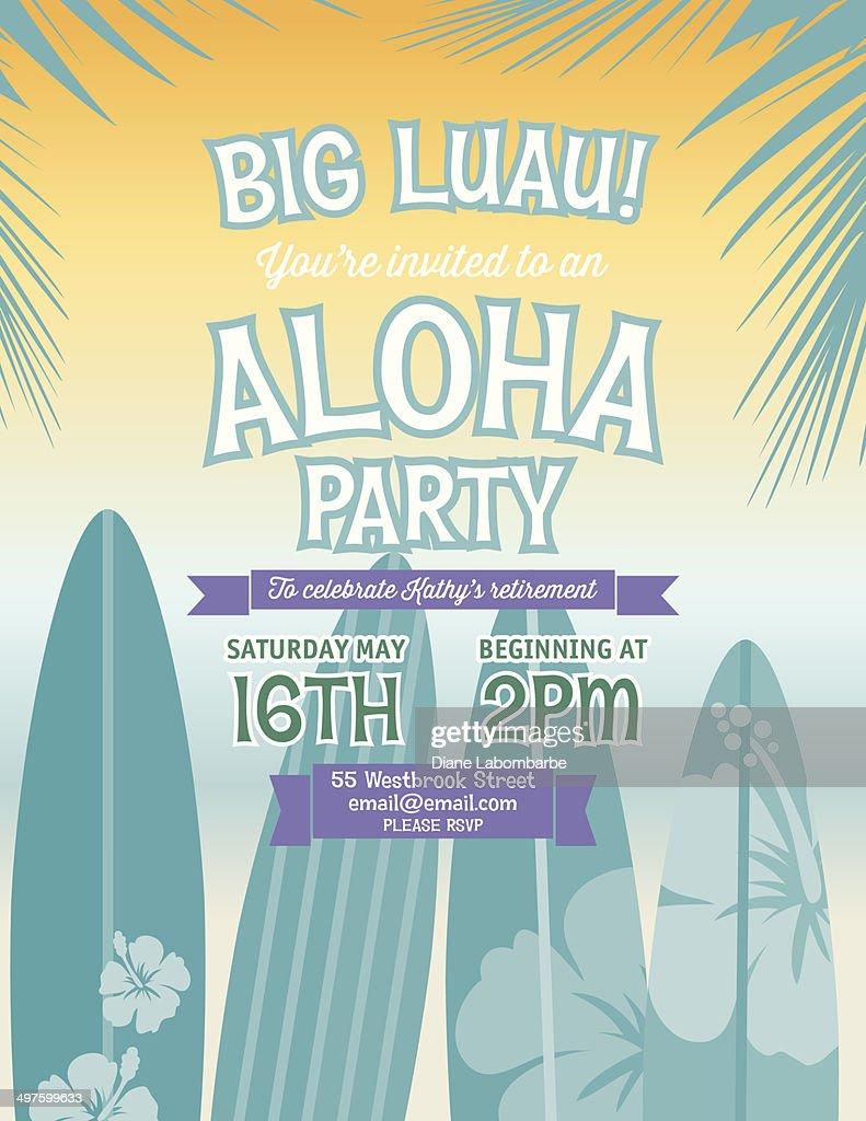 Aloha hawaiian party invitation vector art getty images aloha hawaiian party invitation vector art stopboris Gallery
