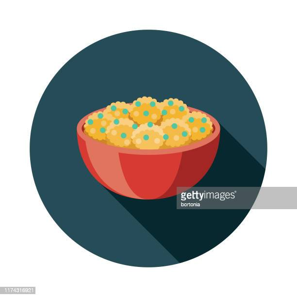 aloo gobi indian food icon - cauliflower stock illustrations, clip art, cartoons, & icons