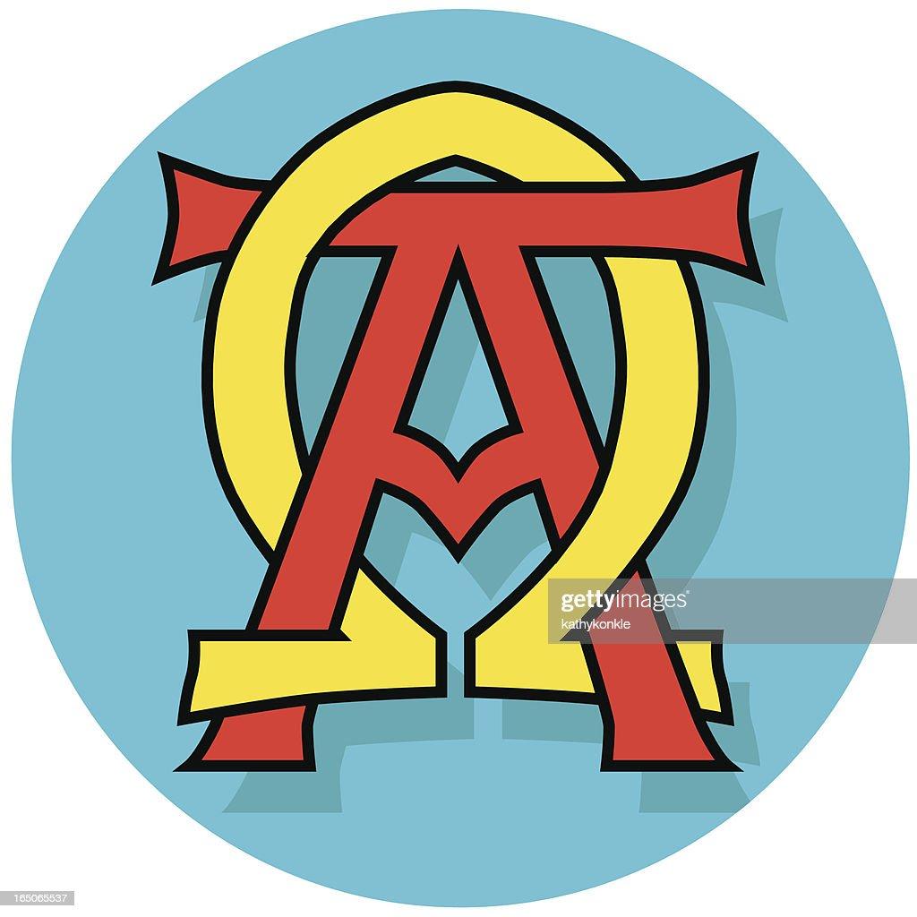 alpha and omega Christian symbol