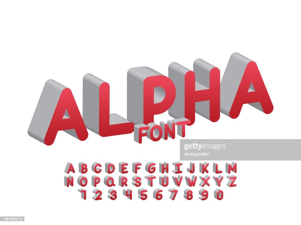 Alpha font. Vector alphabet letters