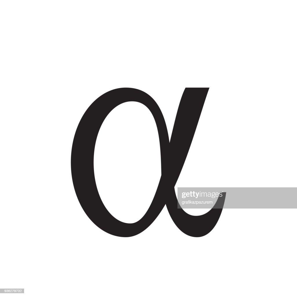 Alpha icon, vector illustration,