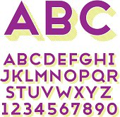 Alphabet and numbers in sans-serif font