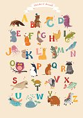 Alphabet & Animal Vector Set