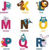 alphabet animals from J to R