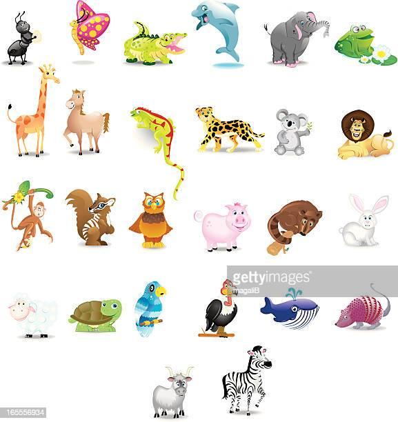 ilustraciones, imágenes clip art, dibujos animados e iconos de stock de alfabeto animales - iguana