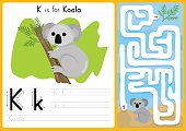 Alphabet A-Z Tracing and puzzle Worksheet,  Exercises for kids