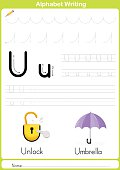 Alphabet A-Z Tracing Worksheet,  Exercises for kids