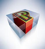 3D alphabet: Capital letter P