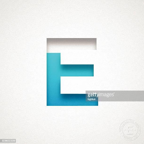 ilustraciones, imágenes clip art, dibujos animados e iconos de stock de alfabeto e design-azul carta en papel de acuarela - letrae
