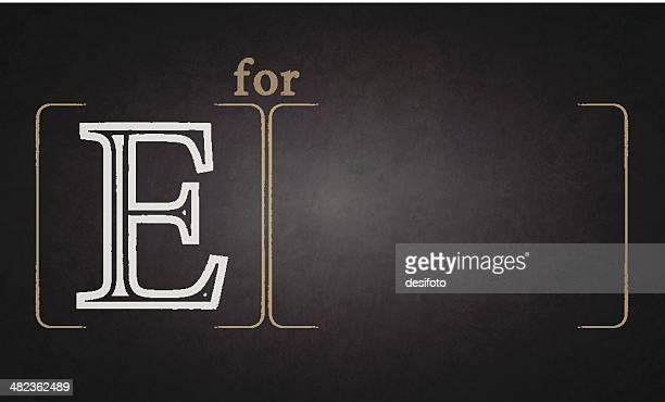 ilustraciones, imágenes clip art, dibujos animados e iconos de stock de alfabeto en pizarra-e - letrae