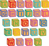 alphabet english blocks