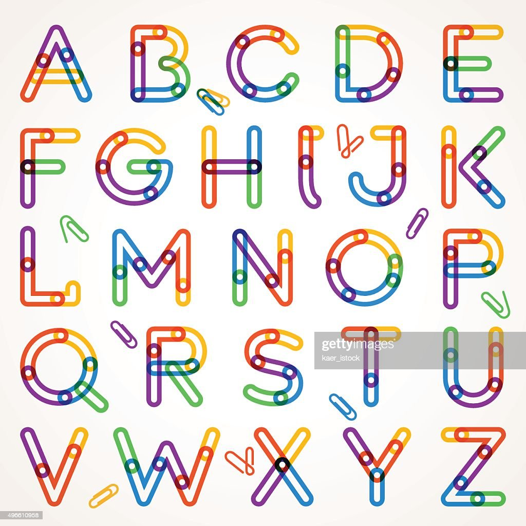 Alphabet from paper clip.