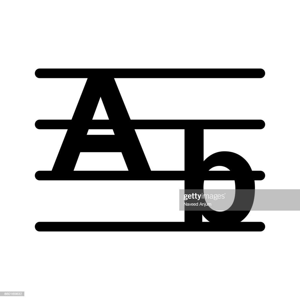 alphabet Glyphs Vector Icon