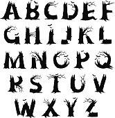alphabet horror letters