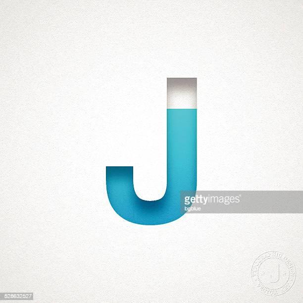 ilustrações de stock, clip art, desenhos animados e ícones de alfabeto-letra j design azul em papel de aguarela - letraj