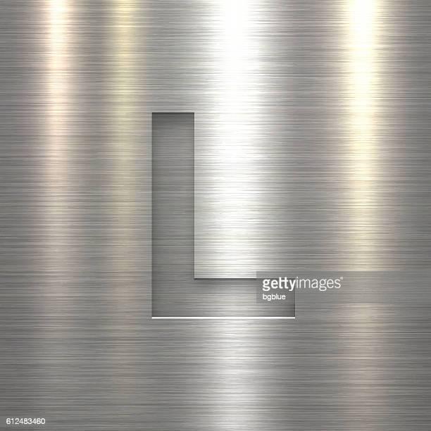 Alphabet L Design - Letter on Metal Texture Background