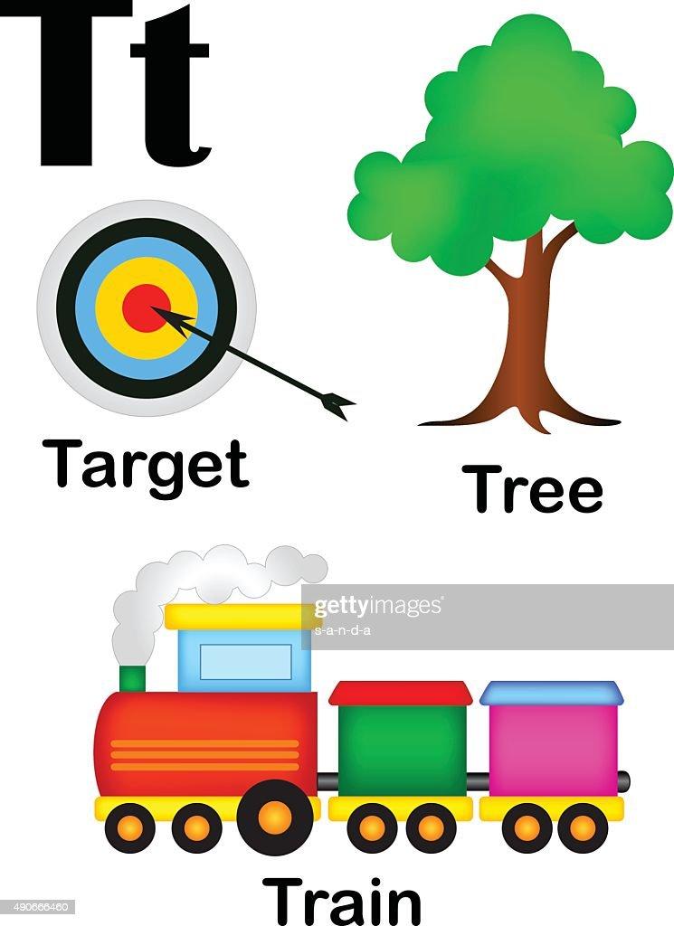 Alphabet letter T pictures