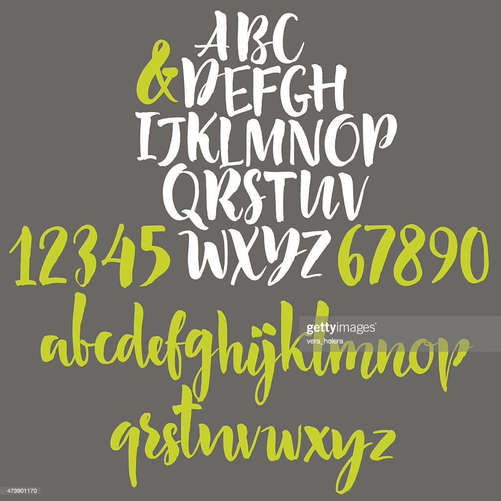 Alphabet letters: lowercase, uppercase and numbers
