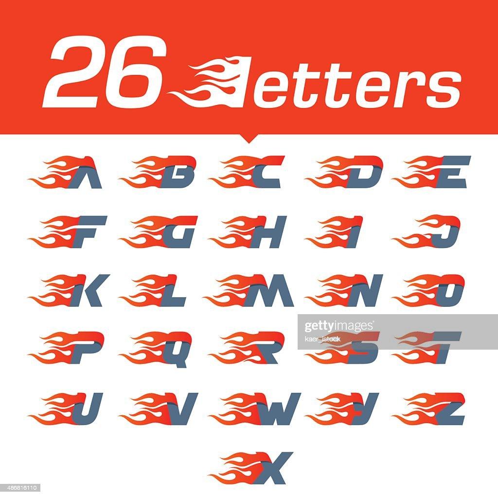 Alphabet letters set.