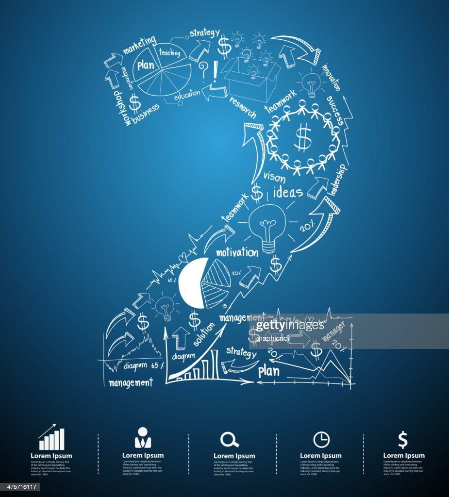 Alphabet number 2 creative drawing business plan concept ideas
