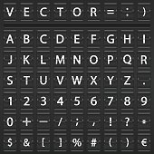 alphabet, numbers and symbols.