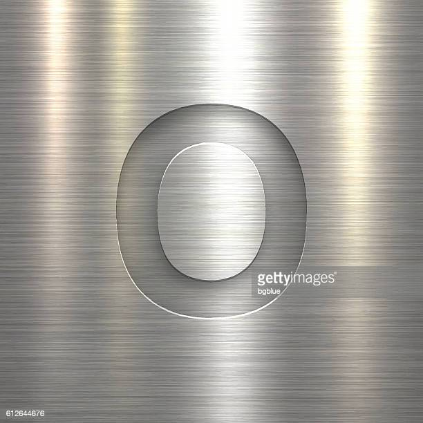 Alphabet O Design - Letter on Metal Texture Background