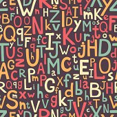 Alphabet seamless pattern