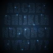 Alphabet set of glittering sequins uppercase