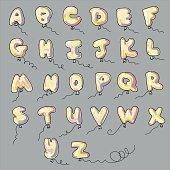 alphabet shaped balloons