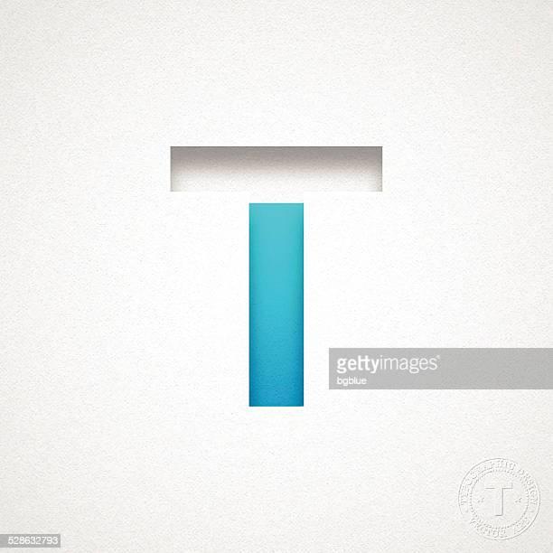 ilustrações de stock, clip art, desenhos animados e ícones de alfabeto-letra t design azul em papel de aguarela - letra t