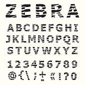ZEBRA alphabet.