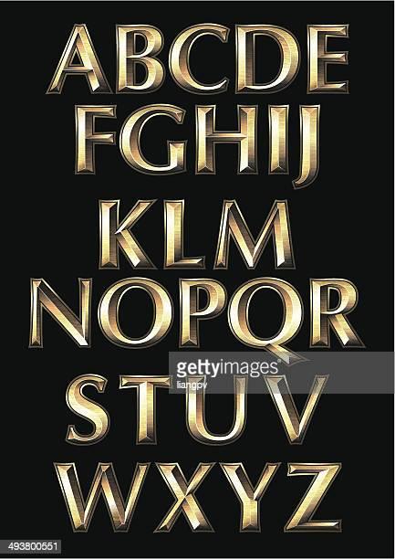 alphabet - chrome stock illustrations, clip art, cartoons, & icons