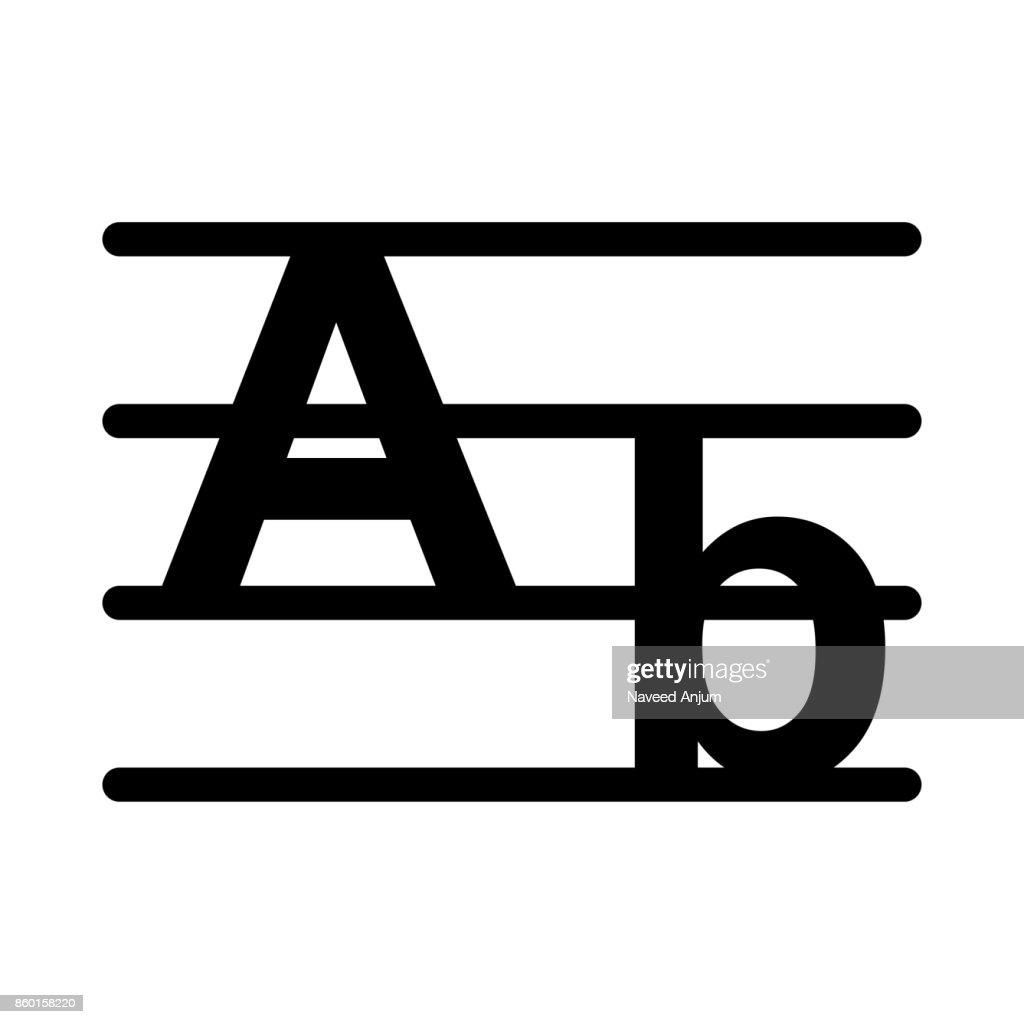 alphabet Vector Thin Line Icon