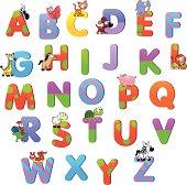 Alphabet with animals.