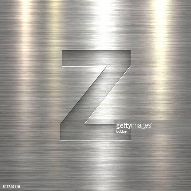 Alphabet Z Design - Letter on Metal Texture Background