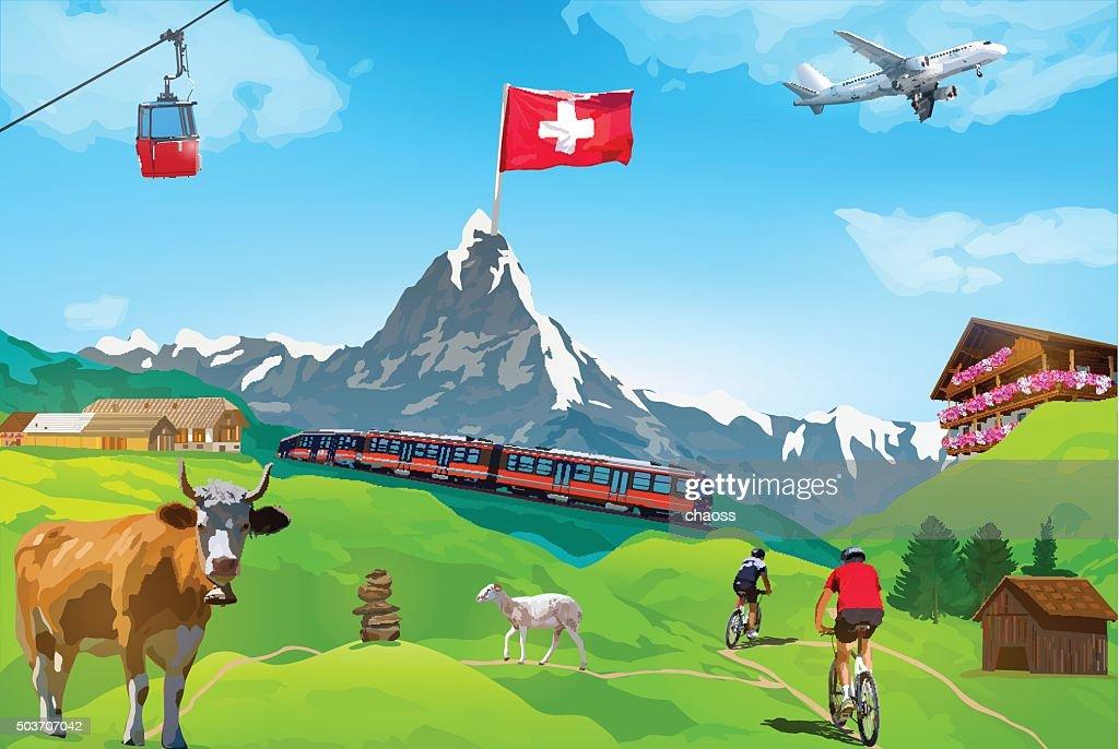 Alps Matterhorn card