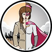Alter Ego Woman Super Hero