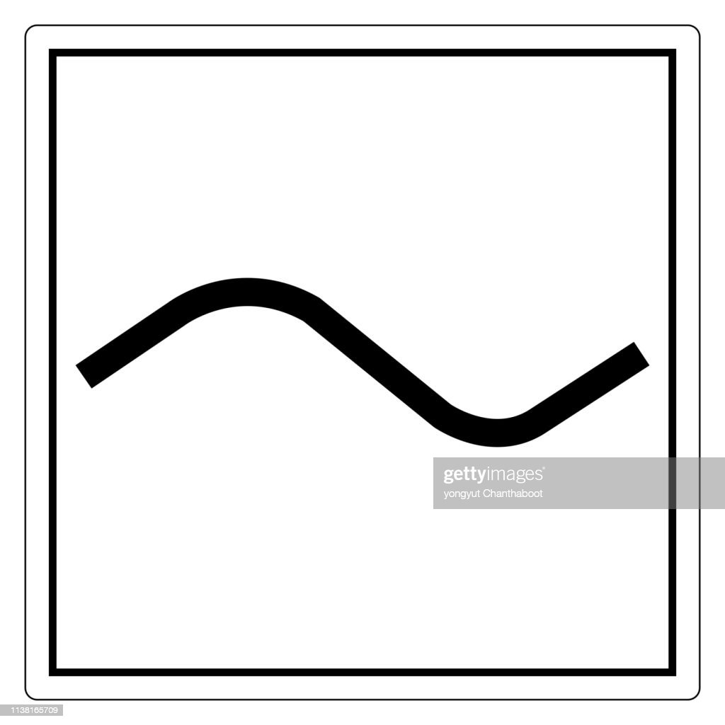 Alternating Current AC Symbol Sign, Vector Illustration, Isolate On White Background Label. EPS10