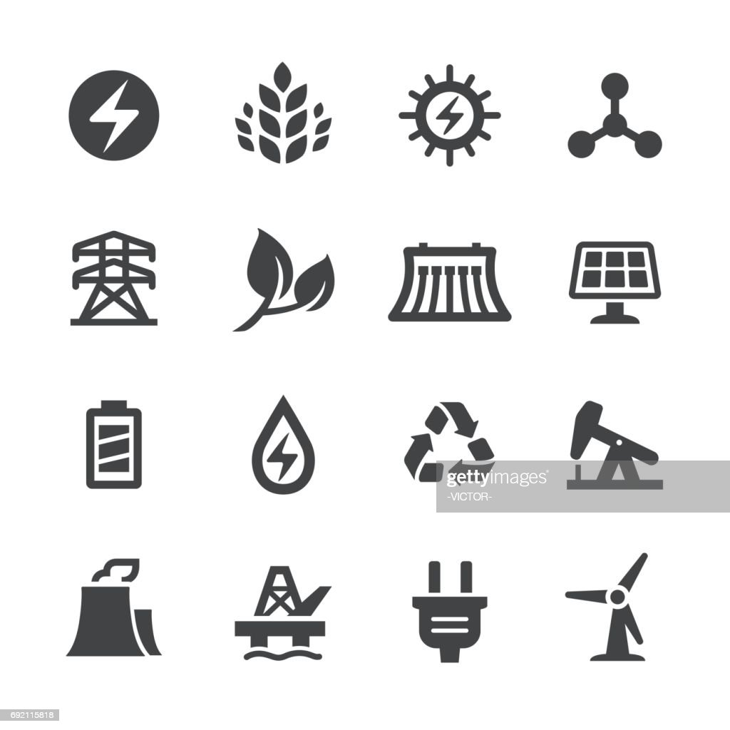 Alternative Energy Icons - Acme Series