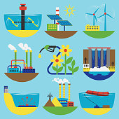 Alternative energy sources vector illustration concept