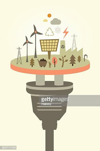 ilustraciones, imágenes clip art, dibujos animados e iconos de stock de energía alternativa - energias renovables