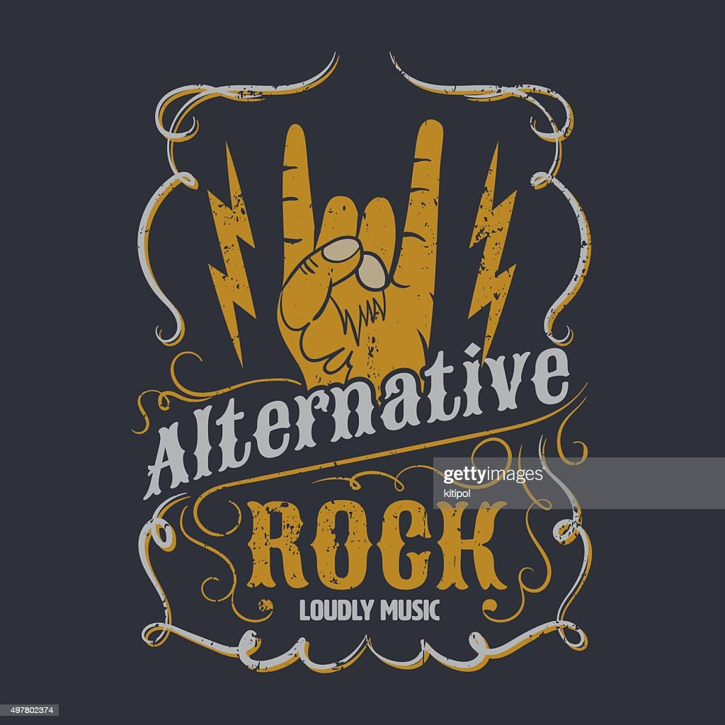 alternative rock graphic for apparel, tee design,vector illustra