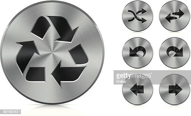 Aluminium Knöpfen/Recycling & Pfeile