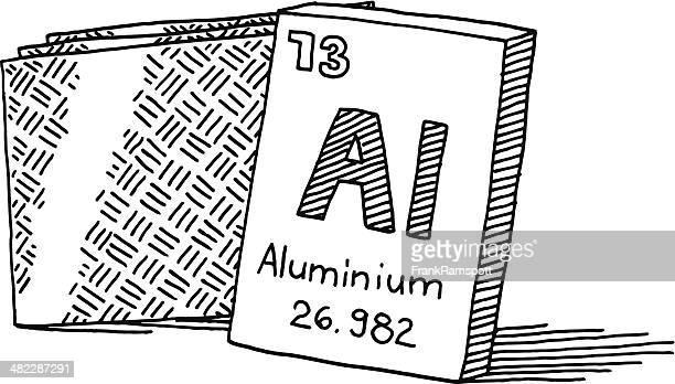 Aluminium Chemical Element Drawing