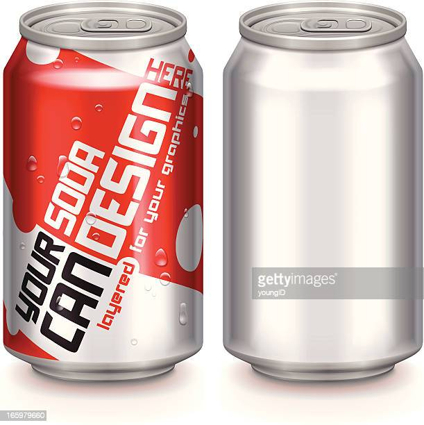 aluminium drinks can - can stock illustrations