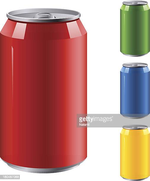 aluminum can - juice drink stock illustrations, clip art, cartoons, & icons