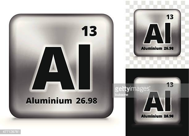 aluminum square element background set - metal industry stock illustrations
