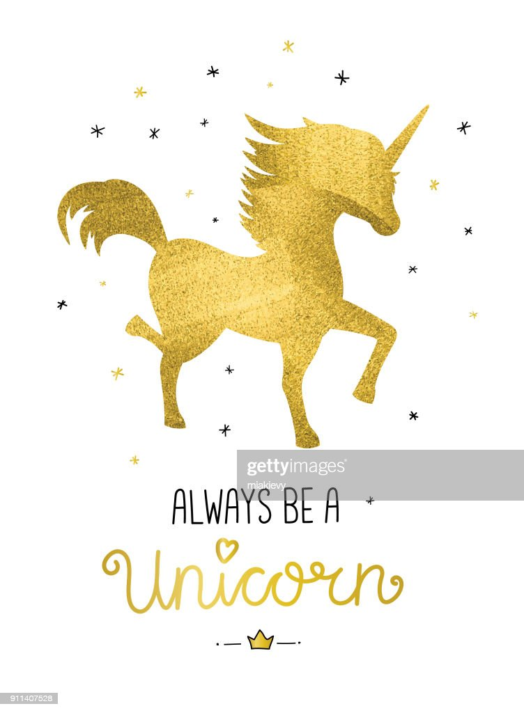 Always be a unicorn : stock illustration