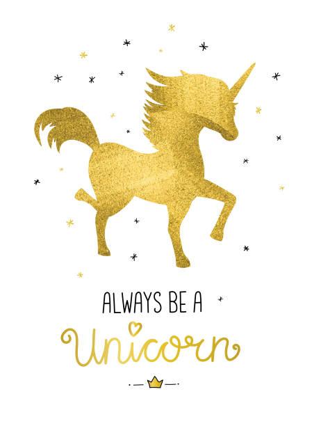 always be a unicorn - unicorn stock illustrations